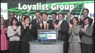 Loyalist Group Ltd. (LOY:TSX-V) opens TSX Venture Exchange, March 18, 2013.