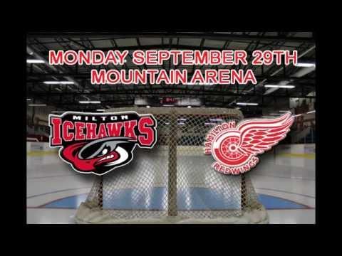 Milton IceHawks at Hamilton Red Wings OJHL Highlights Sept. 29, 2014