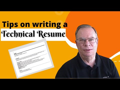 How To Write A Technical Resume