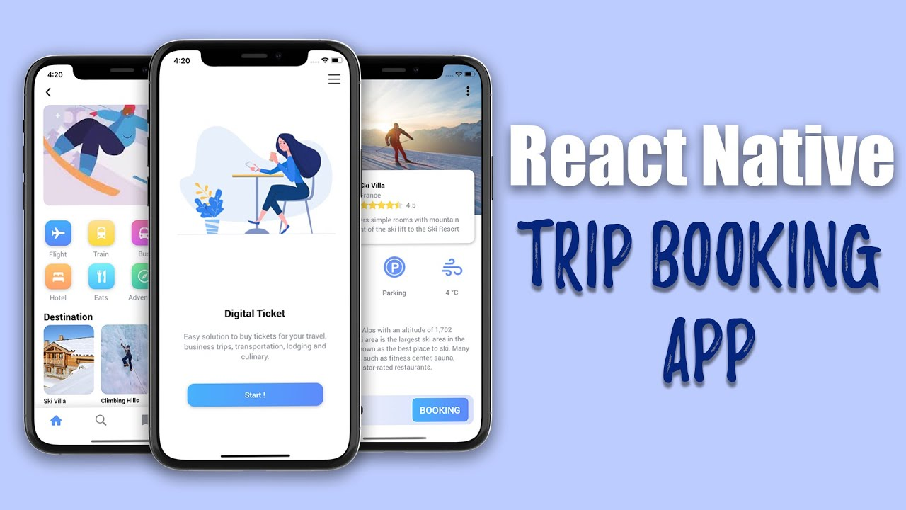 LCRN EP3 - Trip Booking App (React Native)