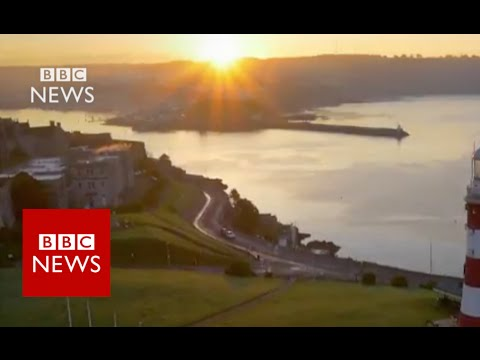 Bird's eye view of Britain's sea cities - BBC News