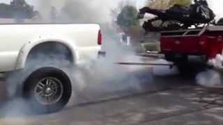 tug of war sick lifted ford powerstroke vs lifted chevy duramax
