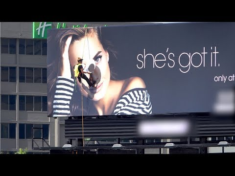 Putting Giant Googly Eyes on a Billboard