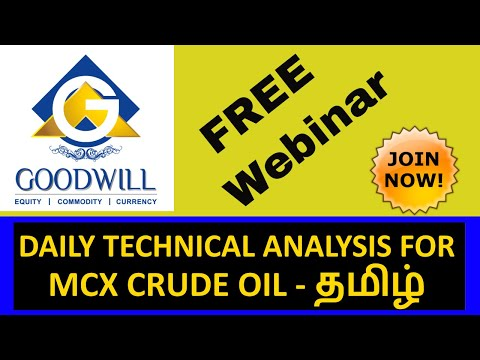 MCX CRUDE OIL TRADING TECHNICAL ANALYSIS OCT 10 2017 IN TAMIL