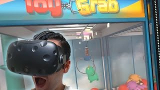 Claw machines and ticket arcade games in VIRTUAL REALITY! Pierhead Arcade VR! | The Crane Couple