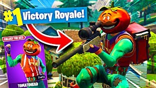 THE *NEW* TOMATO HEAD SKIN IS INSANE! (Fortnite Battle Royale