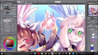 [Undertale AU] Storyswap Chara and Asriel {Electric Angel} Speedpaint