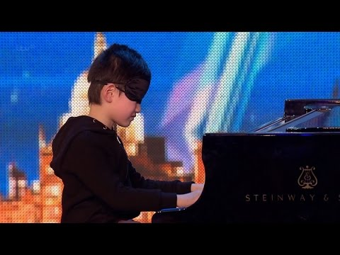 Britain's Got Talent 2015 S09E06 Leo Bailey-Yang 7 Year Old Blindfolded Piano Prodigy