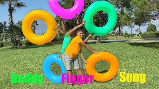 Deddy Finger Color Song and Giant Balls with Guka Maria and Nastya