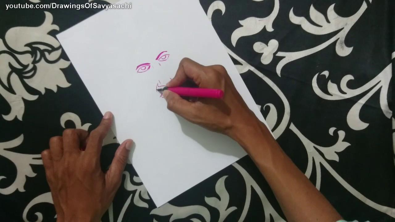 How to draw srinivasa ramanujan
