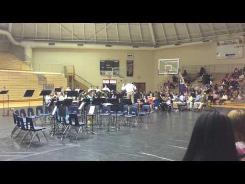 Trombones for President Bethany playing Bainbridge Middle School.