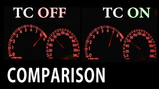 Car Traction Control ON vs OFF [0-100km/h Acceleration]