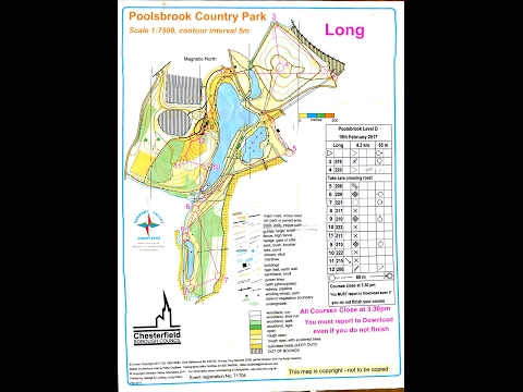 DVO Informal Orienteering event at Poolsbrook Country Park, near Chesterfield 18 February 2017