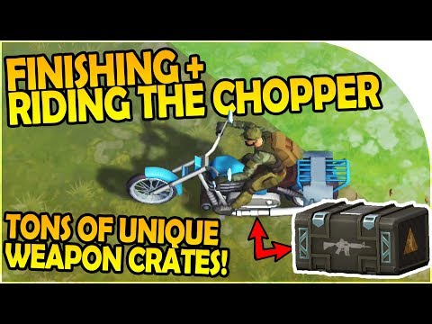 FINISHING + RIDING CHOPPER -TONS of MODIFIED WEAPON CRATES - Last Day On Earth Survival 1.5.5 Update