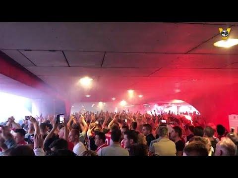 BAM! De Ajax-supporters zijn klaar voor Dinamo Kiev - VOETBAL INSIDE