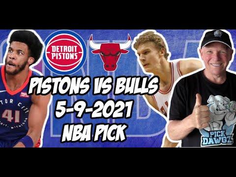 Detroit Pistons vs Chicago Bulls 5/9/21 Free NBA Pick and Prediction NBA Betting Tips