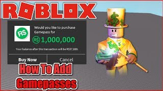 [OUTDATED] HOW TO ADD GAMEPASSES TO YOUR ROBLOX GAME! - ROBLOX STUDIO 2018