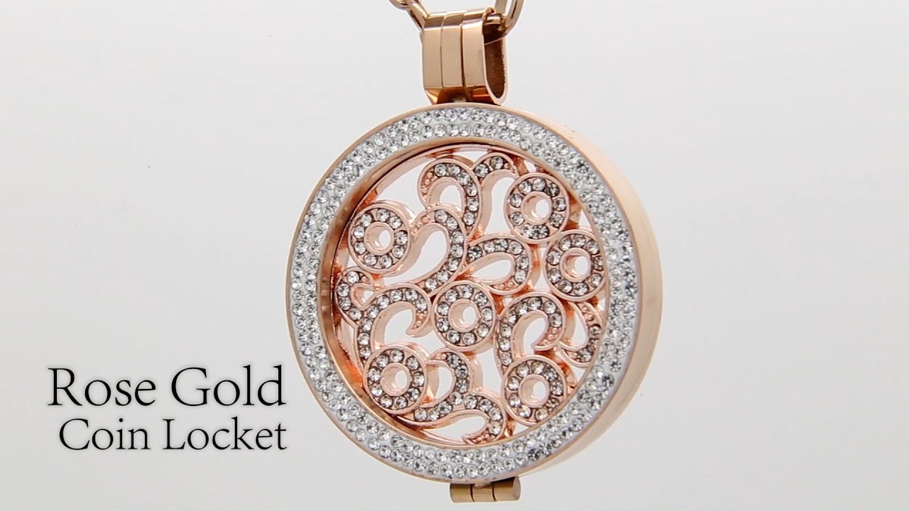 Costume Jewellery Rose Gold Coin Locket by Absolute Jewellery YouTube
