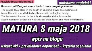 Matura 8 maja 2018 wpis na bloga zadanie 10