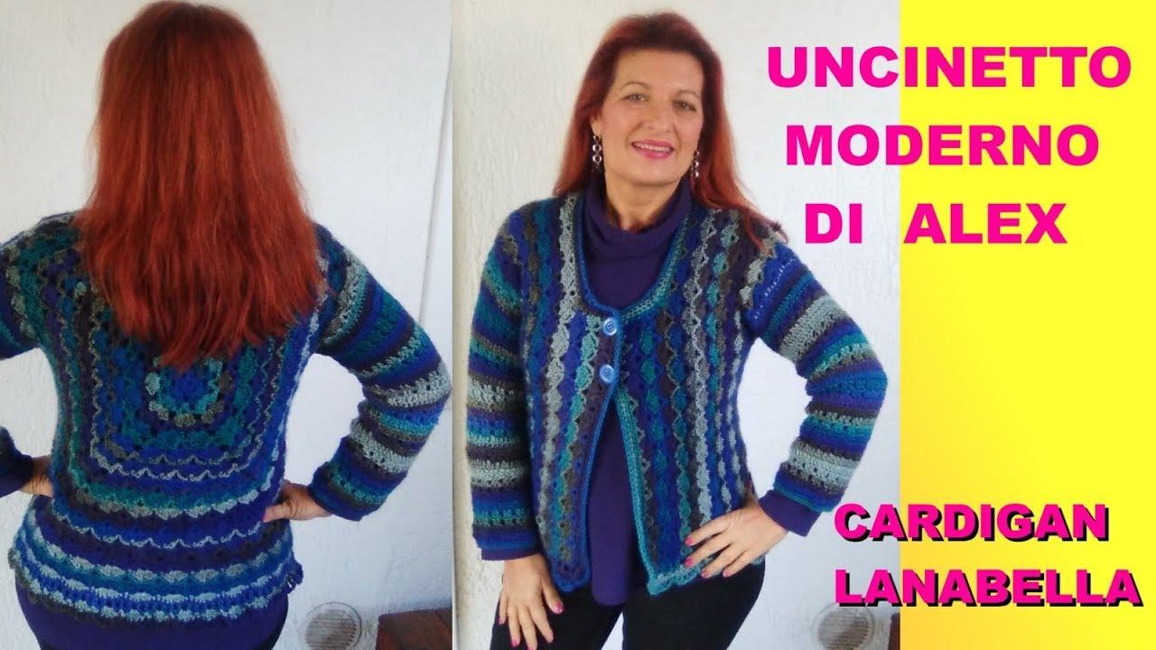 Cardigan Uncinetto Facile Lana Bella Tutorial Alex Crochet Parte 1