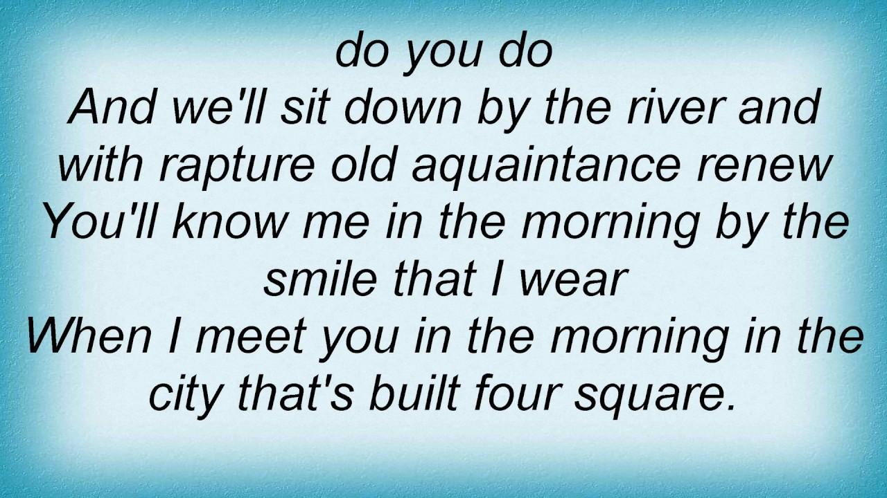 Skeeter Davis Ill Meet You In The Morning Lyrics Youtube