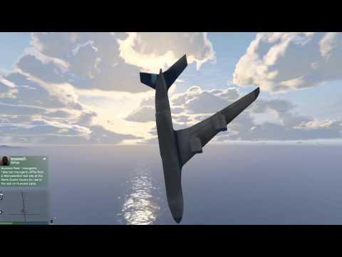 GTA V - Cargo plane ocean crash