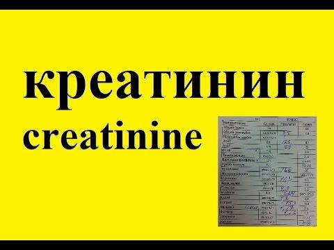 Креатинин в крови, анализ на содержание креатинина в крови