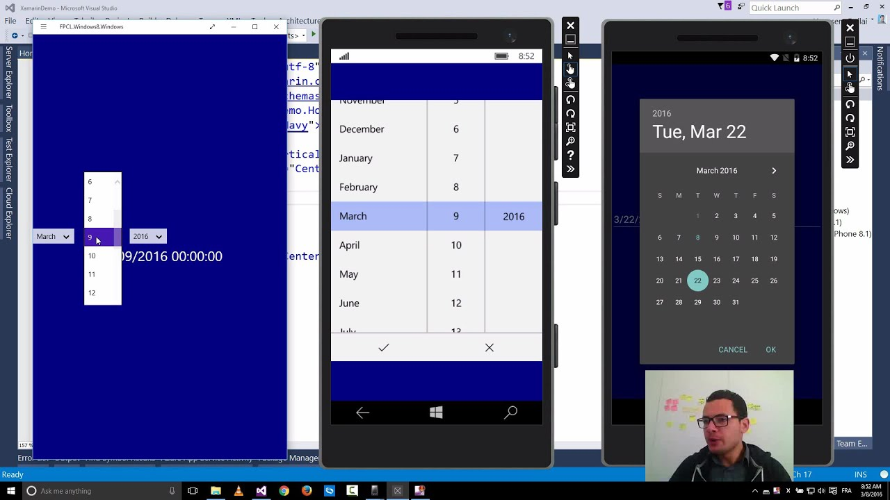 Xamarin Forms with Visual Studio Part22 [DatePicker]