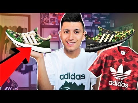 sports shoes e5a78 6269b THE NEW BAPE ADIDAS COLLECTION and ULTRA BOOST!