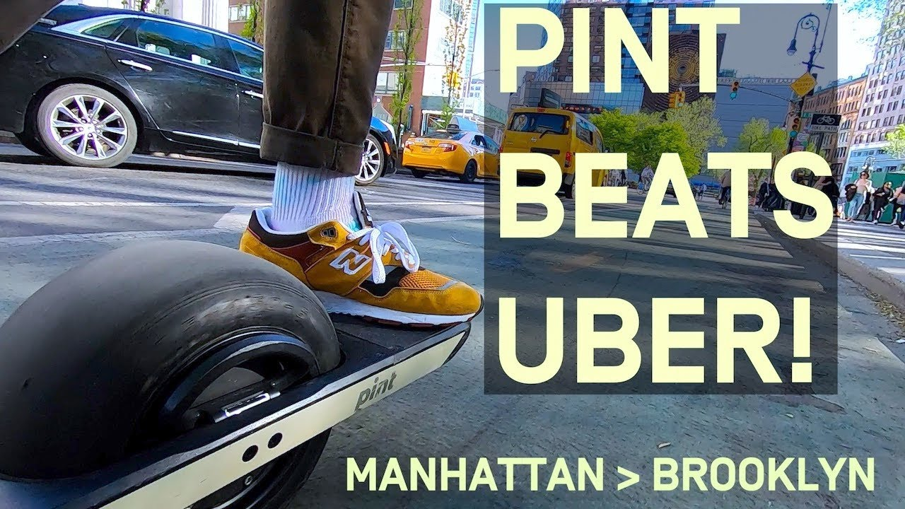 Onewheel Pint Beats Uber from Manhattan to Brooklyn