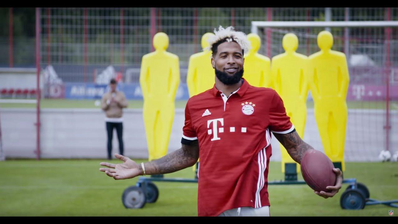 quality design 44cab 0054b Odell Beckham Jr. is Kickin' it with Bayern Munich | OBJ Going Global | NFL