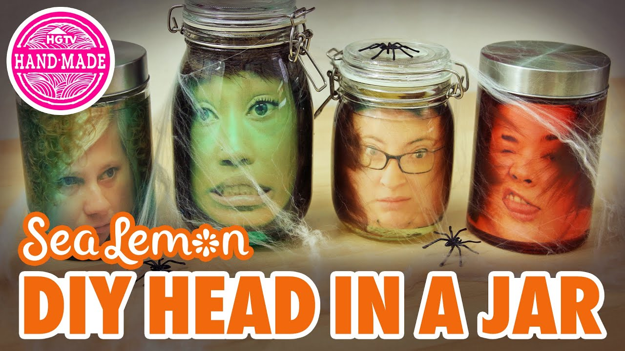 Diy head in a jar with sea lemon hgtv handmade youtube for Heads in jar