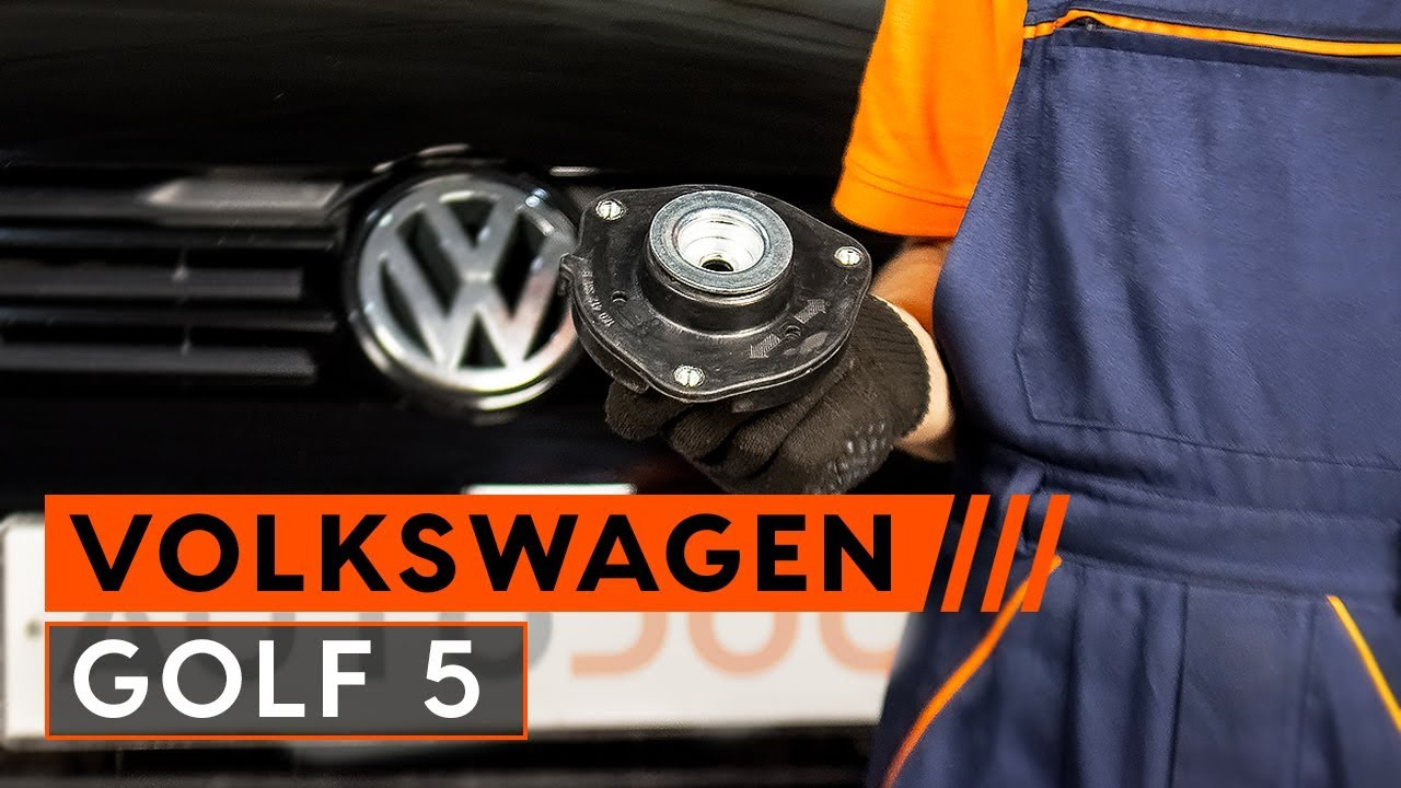 How To Replace A Front Strut Mount On Vw Golf 5 Tutorial Autodoc 2006 Beetle Replacement Parts Motor Repalcement And Diagram