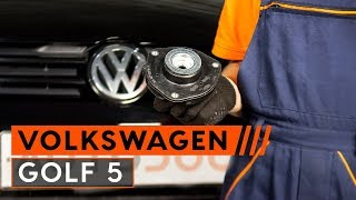 How to change a front strut mount on VW GOLF 5 [TUTORIAL AUTODOC]