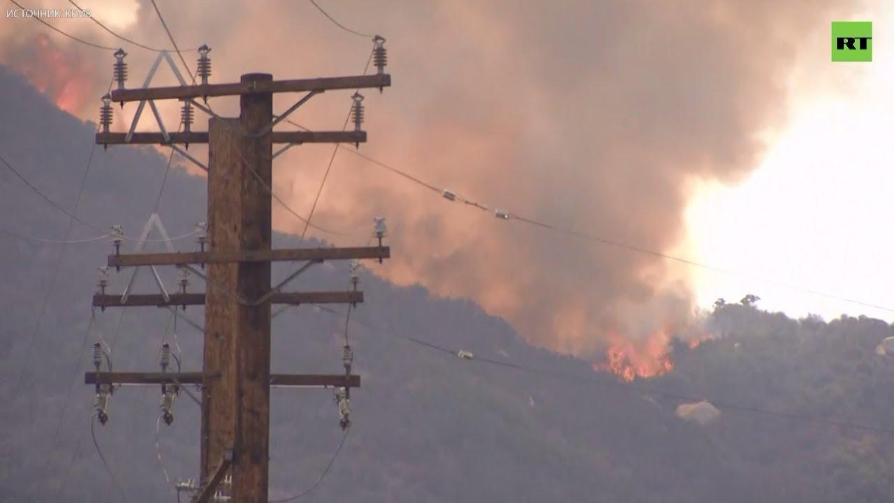 Лесные пожары в Калифорнии дошли до жилых домов