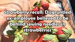 Strawberry recall Disgruntled ex employee believed to be behind sewing needles in strawberries