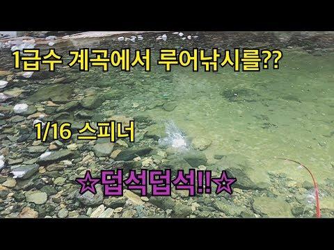 5.23 1급수 계곡에서 낚시를??! 덥석덥석 hunting and fishing