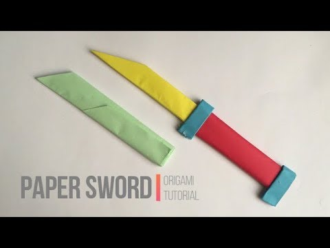 How to make a paper sword/knife, origami easy tutorial.