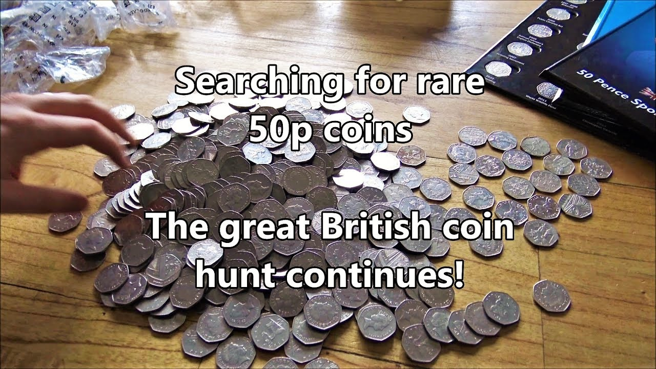 Searching for rare British coins - The great British 50p coin hunt!