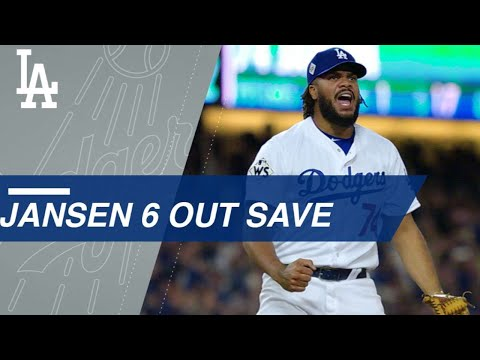 Kenley Jansen gets six outs to seal Game 6 win for Dodgers