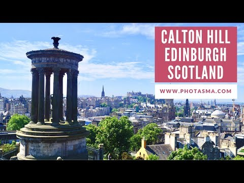 Calton Hill Drone Flight Edinburgh Scotland