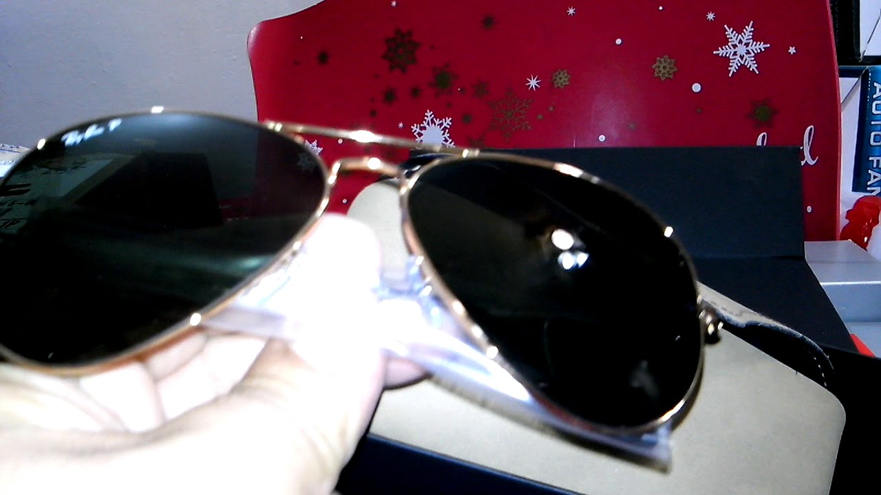 d20d88db8d21a Unboxing Ray Ban 3025 Aviator Large G 15 Polarizados personalizados ...