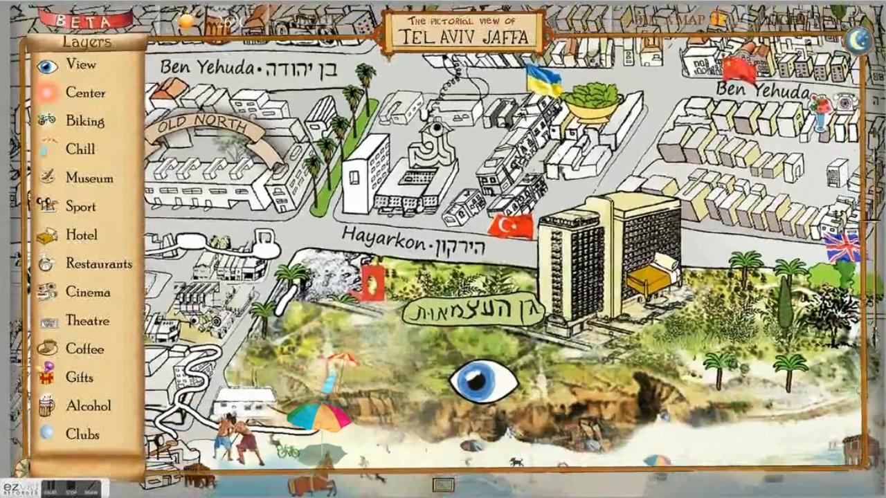 the Tel Aviv Jaffa map YouTube