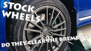 DO THE STOCK WRX WHEELS FIT OVER CTS-V SWAP BREMBO