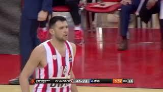 Kostas Papanikolaou highlights (Olympiacos-Khimki: 71-57)