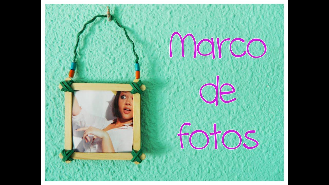 Marco de fotos con palitos de helado diy sandrusqueta - Diy marcos para fotos ...