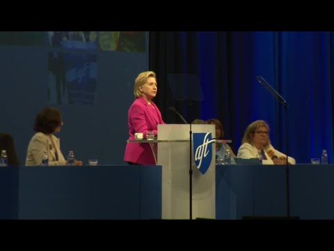 Hillary Clinton speaks at American Federation of Teachers convention in Pittsburgh