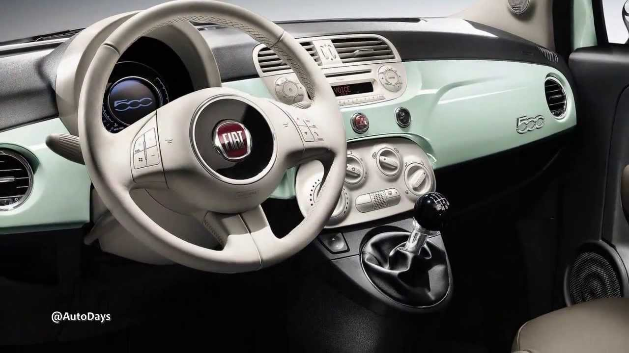 2014 Fiat 500 Cult Interiors - YouTube