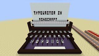 Typewriter in Minecraft
