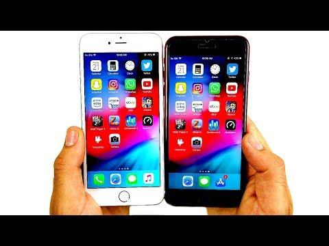 iPhone 6S Plus vs iPhone 8 Plus iOS 12...